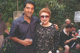 Diana with Rocky Patel the pioneer behind Indian Tabac Cigars.