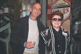Diana poses with Peter Banninger, President of Davidoff.
